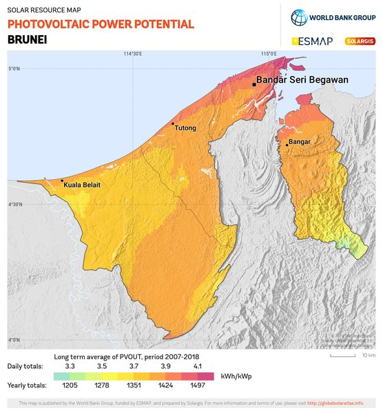 Photovoltaic Electricity Potential, Brunei
