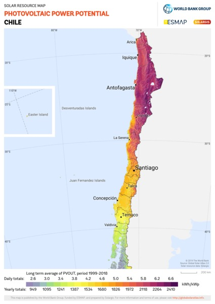 Photovoltaic Electricity Potential, Chile