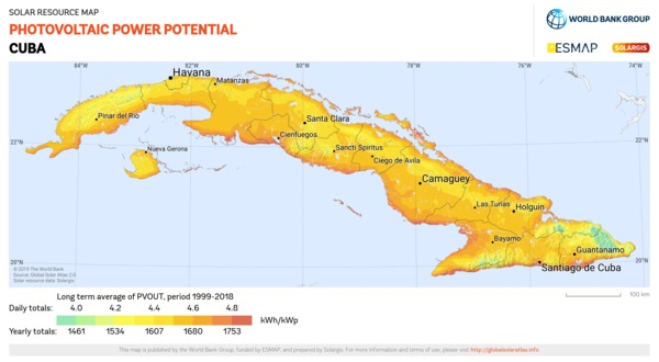 Photovoltaic Electricity Potential, Cuba