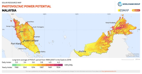 Photovoltaic Electricity Potential, Malaysia