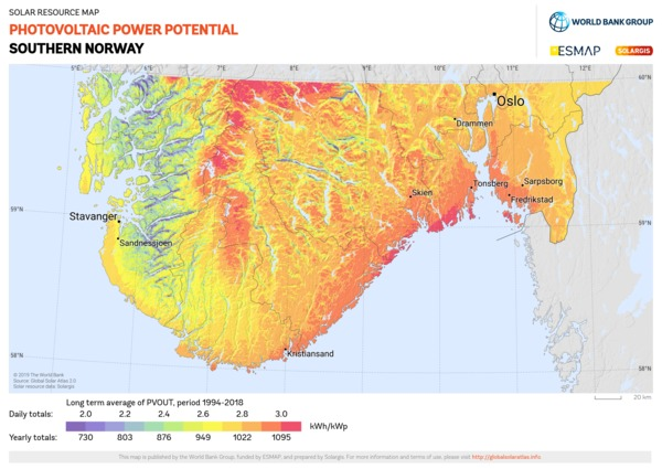 Photovoltaic Electricity Potential, Norway