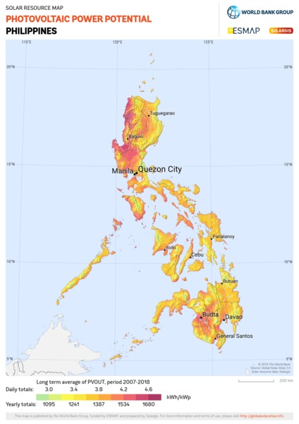 Photovoltaic Electricity Potential, Philippines