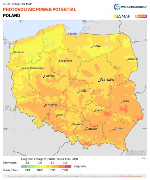 Photovoltaic Electricity Potential, Poland