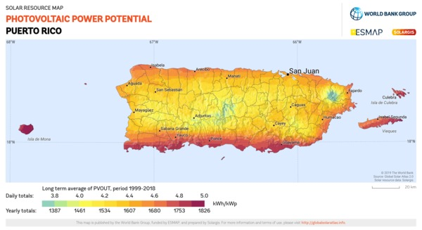 Photovoltaic Electricity Potential, Puerto Rico