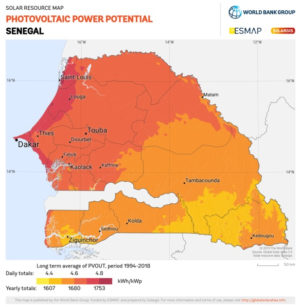 Photovoltaic Electricity Potential, Senegal