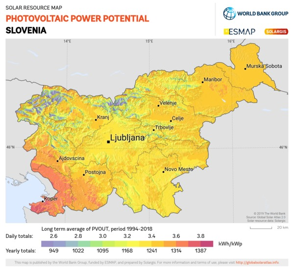 Photovoltaic Electricity Potential, Slovenia