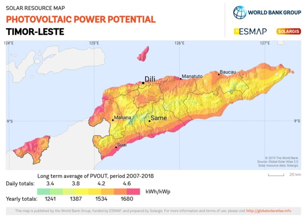 Photovoltaic Electricity Potential, Timor Leste