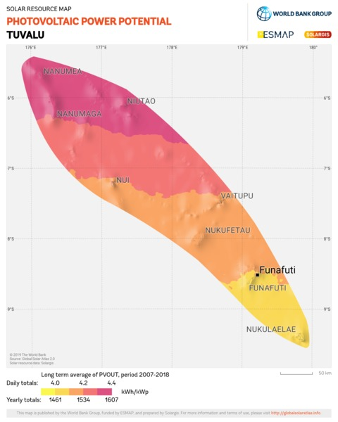 Photovoltaic Electricity Potential, Tuvalu
