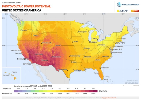 Photovoltaic Electricity Potential, USA